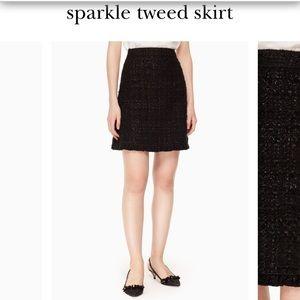 Sparkle tweed skirt